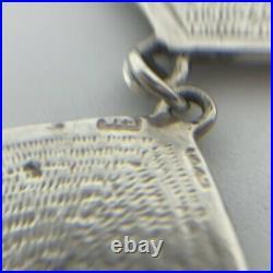 Pat Cheney Scottish Silver & Enamel Art Deco Earrings & Necklace Vintage (39)
