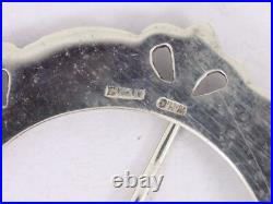 Penannular Brooch Sterling Silver Vintage Scottish 925 17g Bo56