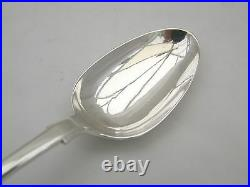 RARE SCOTTISH SET of 6 VICTORIAN HM STERLING SILVER SERVING SPOONS 1839