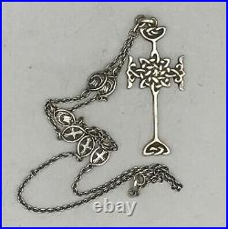 Rare Antique Scottish Alexander Ritchie Sterling Silver Iona Cross Pendant c1900
