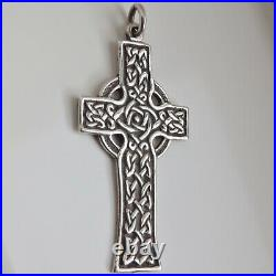 Rare Antique Scottish Alexander Ritchie Sterling Silver Iona Cross Pendant c1907