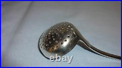Rare Antique Scottish Sterling Silver Sifter / Sifting Spoon Edinburgh 1840