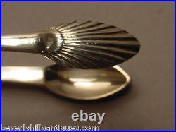Rare Georgian Scottish Silver Sugar Tongs