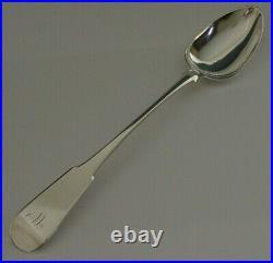 Rare Georgian Solid Sterling Silver Basting Spoon 1814 Scottish Antique