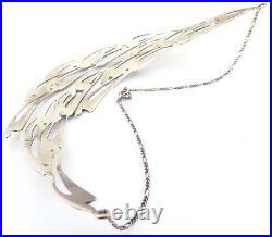 Rare Hallmarked Scottish Flight of Swallows Necklace By Hamish Dawson Bowman
