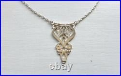 Rare Ola Gorie Orkney Scottish Silver Early Celtic Necklace Edinburgh Hallmark