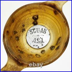 Rare SCOTTISH HORN & STERLING SILVER QUAICH Edinburgh 1906 William Dunningham