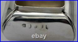 Rare Scottish sterling silver bombe TEA CADDY. GLASGOW 1828. Robert Gray & Son