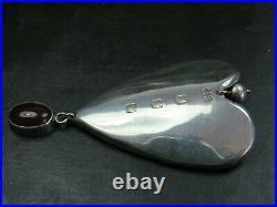 Rare Vintage Scottish Sterling Silver & Cairngorm Pendant 1997