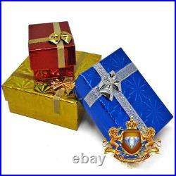 Real Diamond 33 Degree Masonic Scottish Rite Freemasonry Pendent Charm Big 2.5'