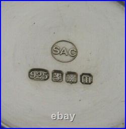 STYLISH SCOTTISH SOLID STERLING SILVER AGATE BOX EDINBURGH 2011 MODERNIST 68g