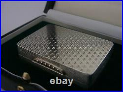 SUPERB CASED BOXED SCOTTISH SOLID STERLING SILVER SNUFF BOX 2000 GALLAGHER 64g