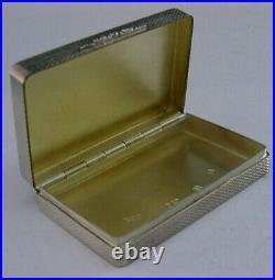 SUPERB HEAVY SCOTTISH SOLID STERLING SILVER TRINKET SNUFF BOX 2002 82g