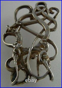 Scottish 1967 Ola Gorie Silver Dunfallandy Stag Brooch Pin
