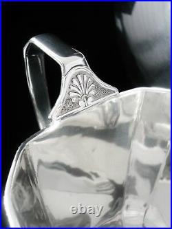 Scottish Art Deco Sterling Silver Teaset, Edinburgh 1938, Henry Tatton & Son Ltd