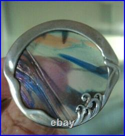 Scottish Art Nouveau Silver Brooch & Pendant Pat Cheney John Ditchfield Glass