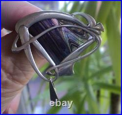 Scottish Art Nouveau Silver Brooch Pendant Pat Cheney John Ditchfield Glass no. 2