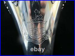 Scottish CLAN MACPHERSON Sterling TOUCH Not the CAT Bot a Glove TROPHY Vase