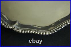 Scottish Georgian Sterling Silver Tray Salver Footed Edinburgh 1776