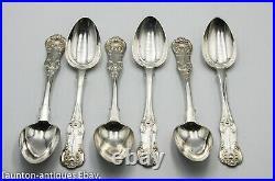 Scottish Glasgow solid sterling silver teaspoon Queens pattern R. Scott 1851