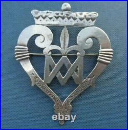 Scottish IONA Stg. Silver Luckenbooth Sweetheart Brooch Celtic Art Industries