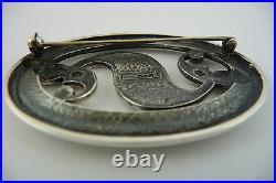 Scottish Ola Gorie Silver Brooch Pin Roman Beastie