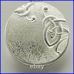 Scottish Ola Gorie Silver Celtic Secrets Knot Locket 18 Chain Pendant