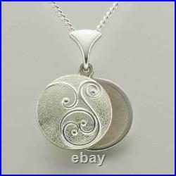 Scottish Ola Gorie Silver Pendant 18 Curb Chain Birdland Mother of Pearl