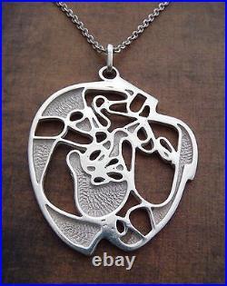 Scottish Ola Gorie Silver Pendant 2 Chains 1971