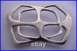 Scottish Ola Gorie Sterling Silver Scarf Brooch Pin