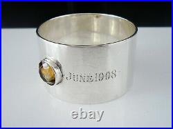 Scottish Provincial Sterling Silver Cairngorm Napkin Ring, William Robb Ballater