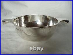 Scottish Quaich, Toasting Cup Sterling Silver Edinburgh 1928