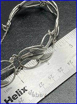 Scottish Shetland STERLING SILVER Bracelet 7 Tern Bird Orig Box HM1975 G/QTY