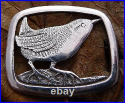 Scottish Shetland Silver 925 Wren Brooch Pin 1977