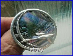 Scottish Silver Brooch & Pendant Pat Cheney John Ditchfield Glass Flying Geese