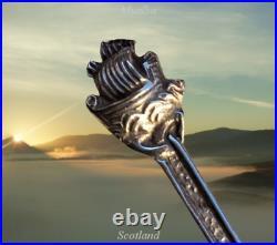 Scottish Silver Iona Viking Longship Spoons Robert Allison Alexander Ritchie