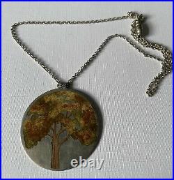 Scottish Silver Norman Grant Pendant with Tree Design 1975