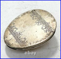Scottish Sterling Silver Cowry Shell Snuff Box, George III 1799