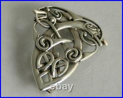 Scottish Sterling Silver Ola Gorie Orkney Zoomorphic Coppergate Brooch 1997