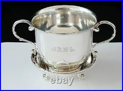 Scottish Sterling Silver Porringer Bowl & Stand, Hamilton & Inches 1923