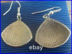 Scottish Stg. Silver & Enamel Art Nouveau Pendant & Earrings 1980s Pat Cheney
