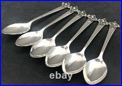 Scottish provincial 6 sterling silver celtic spoons by SS Edinburgh 1963
