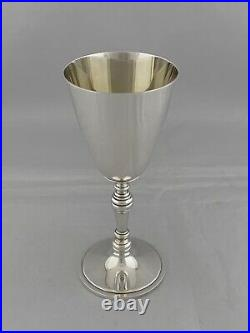 Solid Silver SCOTTISH Silver Goblet Or Wine Cup 1998 EDINBURGH Sterling Silver
