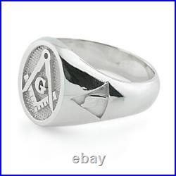 Sterling Silver 925 Masonic Ring Scottish Rite 14Th Degree YOD Fremason Ring