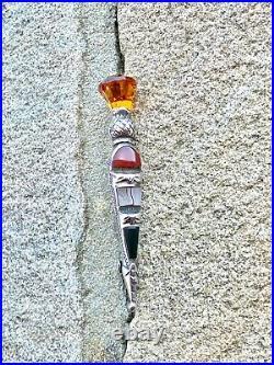 Sterling Silver Dirk Scottish Dagger Brooch Charles Horner Chester 1950