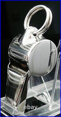 Sterling Silver Referee Whistle, Scottish Hallmarked, Dog Training