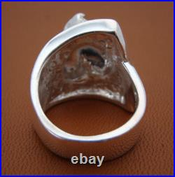 Sterling Silver Scottish Terrier Head Study Ring