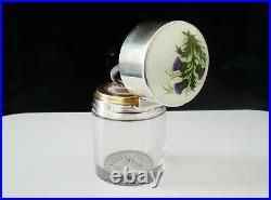 Sterling Silver Scottish Thistle Enamel Scent Bottle, Lawrence Emanuel 1917