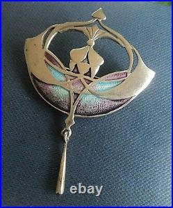 Superb Scottish Silver & Enamel Art Nouveau Brooch And Pendant Pat Cheney