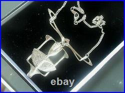 Superb Scottish Silver & Enamel Art Nouveau Pendant Pat Cheney 1980s Edinburgh